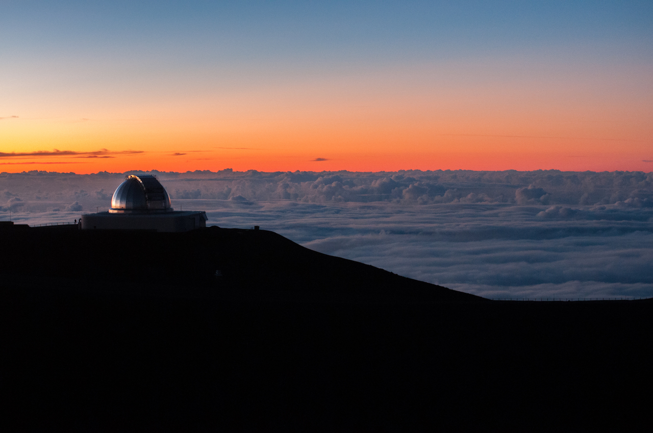 NASA telescope on Mauna Kea summit