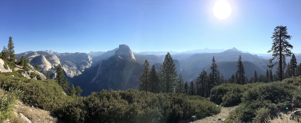 Panoramic view from Glacier Point in Yosemite