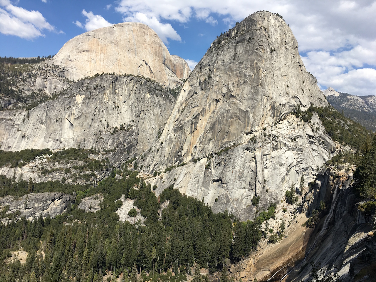 Nevada Fall and Liberty Cap in Yosemite