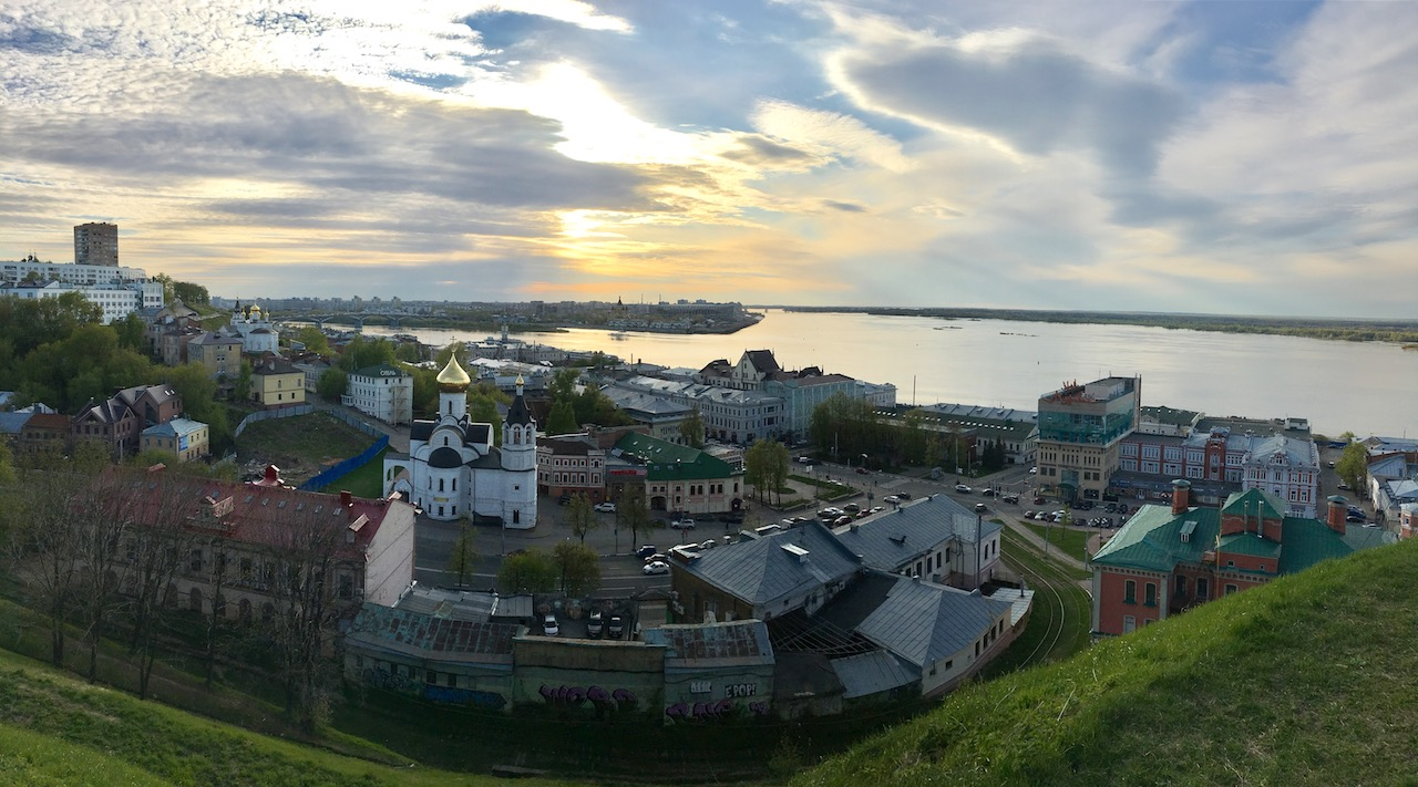 Нижний Новгород, вид на стрелку